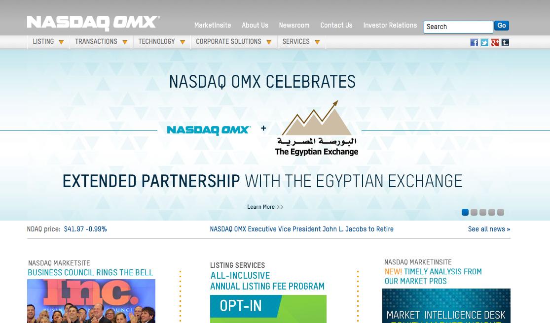 NASDAQ OMX Executive Vice President John L. Jacobs to Retire