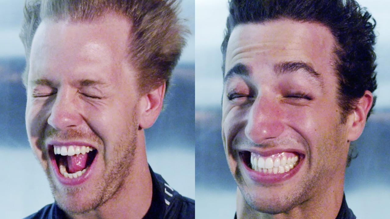 Sebastian Vettel and Daniel Ricciardo break wind with GEOX