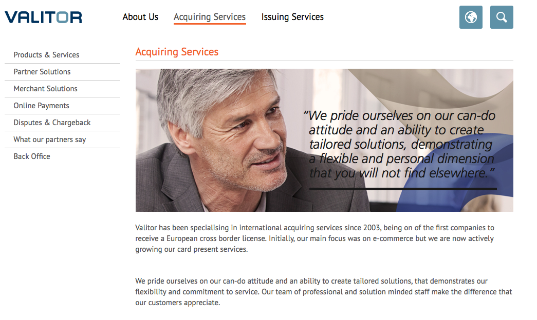 Leading acquiring and issuing services offered for over a decade