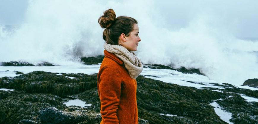 Sarah wearing the Esja Womens Jacket