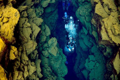 Scuba diving Silfra Fissure