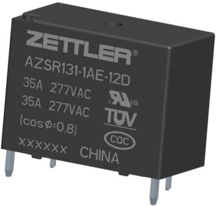 New at ZETTLER electronics: 35 AMP Miniature Power Relay AZ SR131