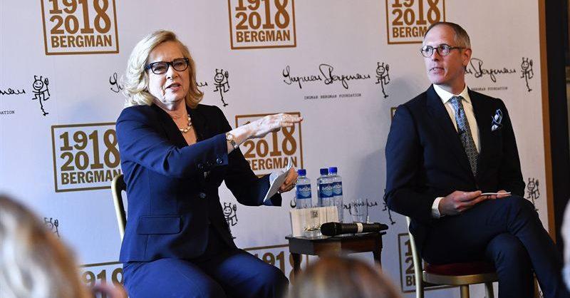 Press Event The Ingmar Bergman Centenary Jan Holmberg and Liv Ullmann
