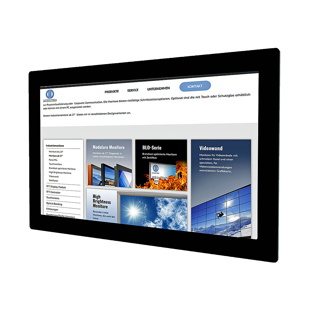 WebPoster: Industrial Monitor as HTML Viewer