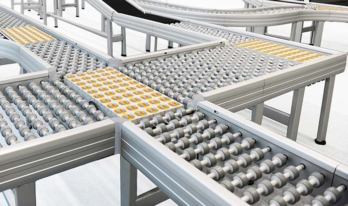 Invisible power supply for conveyor systems