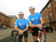 Bewley's Chris and Mick getting on their bikes for children's charity